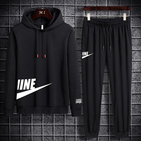 2020秋季新款长袖男士套装帅气男一套休闲潮流薄款两件套