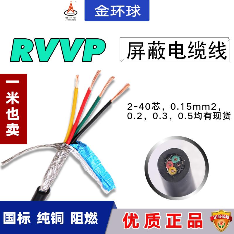 纯铜屏蔽线RVVP