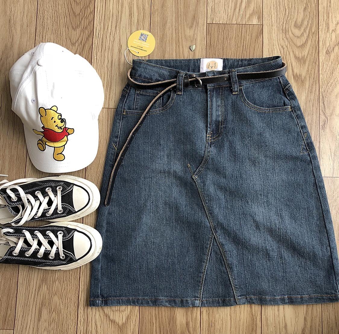 【Макияж стиль 】 винтаж Выполнение старого джинсовый Половина юбки