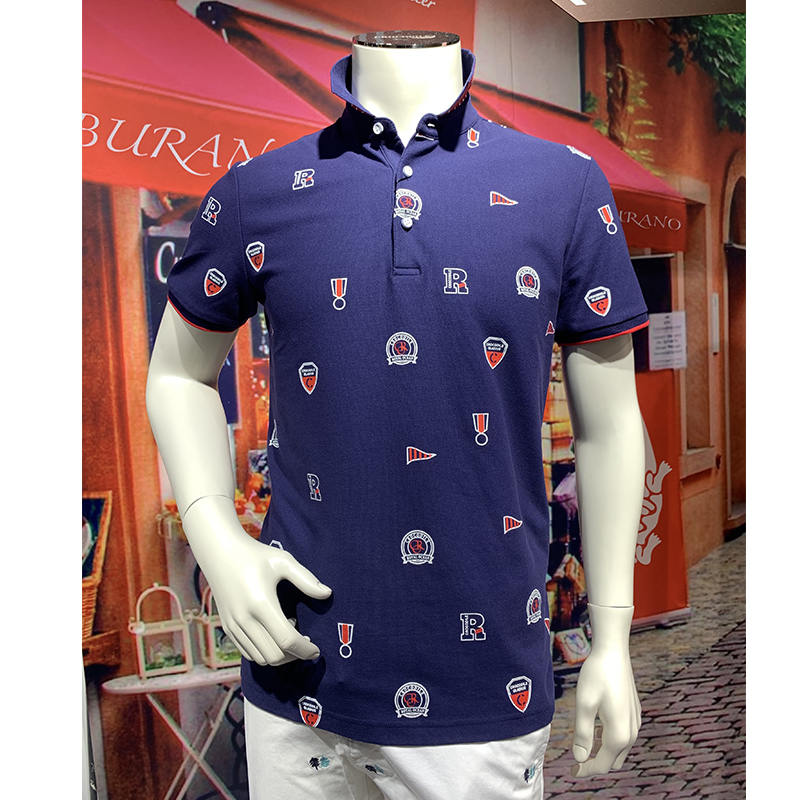 Summer 2020 mens and womens couples parents and childrens same pattern Lapel casual and comfortable mens short sleeve T-shirt dt53183-53