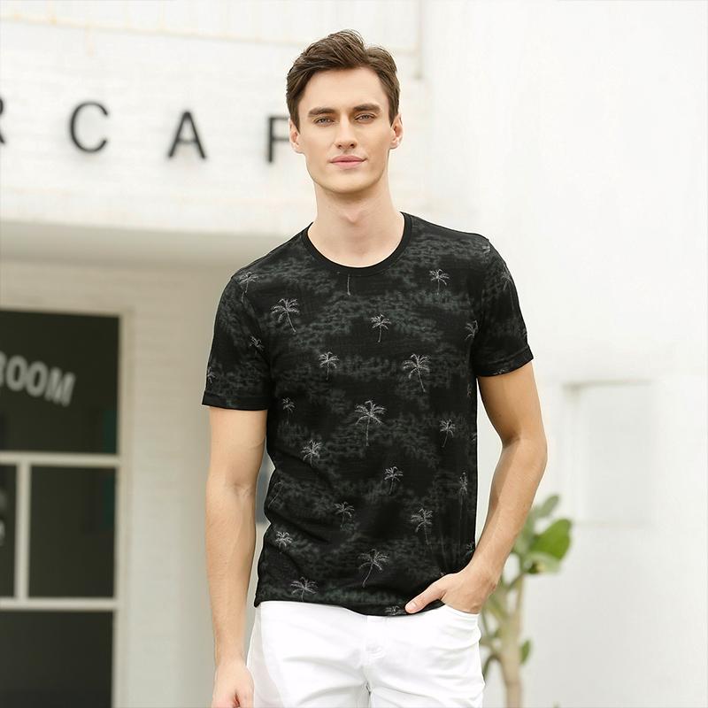 Crocodile T-shirt 2020 summer mens round neck plant pattern fashion casual youth short sleeve T-shirt 436362143