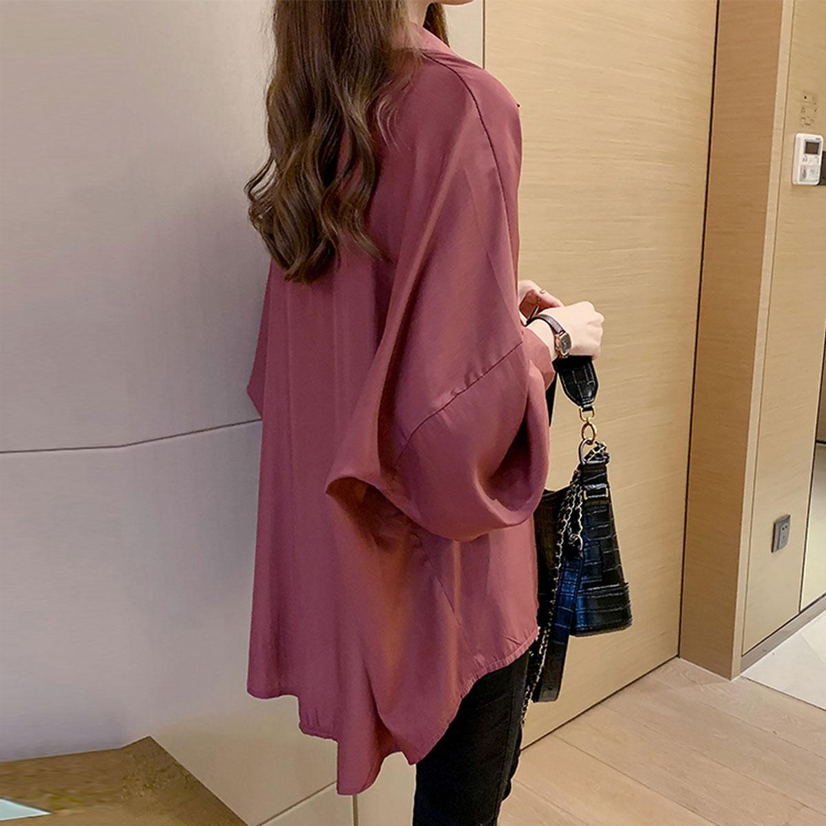雪纺女装春秋季新款韩版宽松潮衬衫