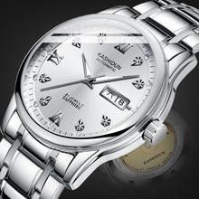 2019新款卡诗顿全自动机械表男士手表商务精钢带防水夜光镂空腕表