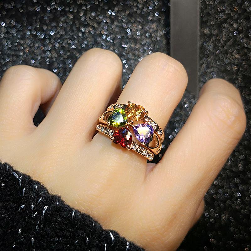 食指女夸张大个性紫水晶奢华潮戒指
