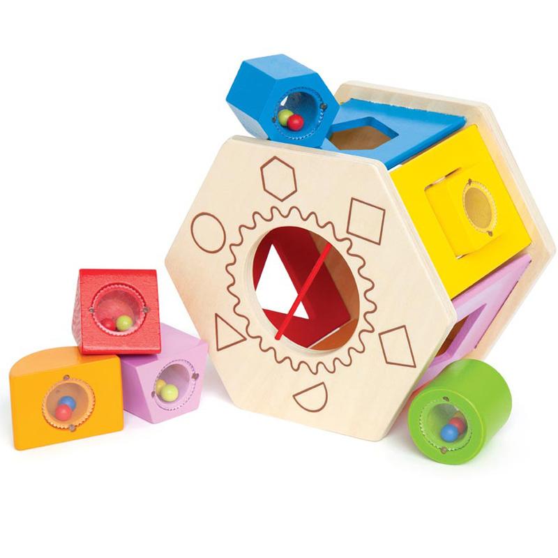 德國Hape兒童嬰兒積木 一歲寶寶益智玩具1~2歲一周歲男孩男童女孩