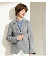 外套女NS0C329 1气质优雅休闲格子短款 新款 小西装 念 2019秋季