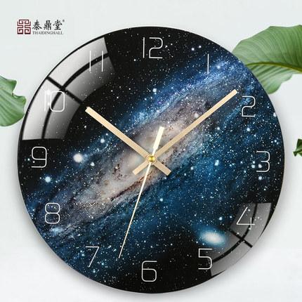 艺术挂钟北欧圆形创意简约个性现代时尚家用客厅静音电子石英时表