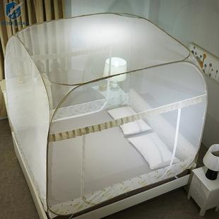 床雙人家用1.8m1.5米床方頂免安裝加密加厚1.2蒙古包蚊帳
