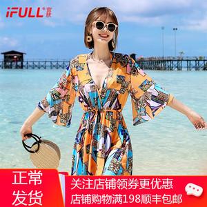 比基尼泳衣女2020新款三件套ins风韩国小香风保守遮肚显瘦游泳装