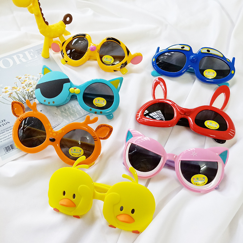 券后22.50元儿童墨镜男童卡通可爱防紫外线小孩眼镜硅胶偏光潮女童宝宝太阳镜