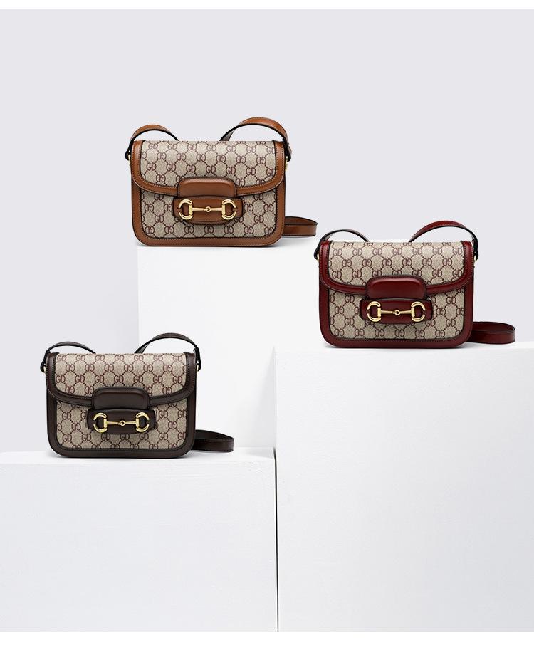 Bag women 2020 new GD letters ins super popular title buckle retro saddle bag crossbar bag womens bag