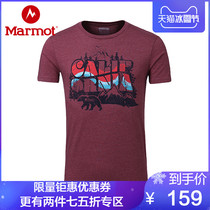 Marmot Groundhog Spring and summer new outdoor breathable round neck cotton male short sleeve T-shirt F44860