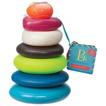 United States B Toys stacked music infant childrens educational toys music baby rainbow ring stack heap Music Circle Tower