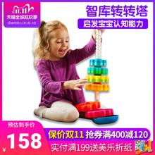 美国FatBrain智库转转塔堆堆塔早教益智玩具2岁转转乐宝宝堆积木