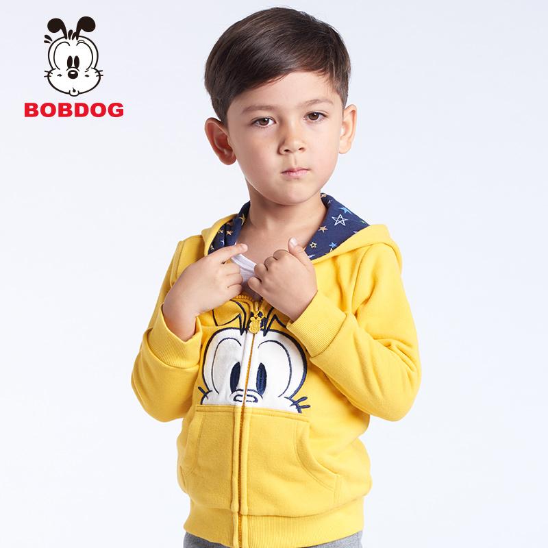 男童衛衣 開衫連帽外套 巴布豆 春秋2016 兒童衛衣寶寶上衣