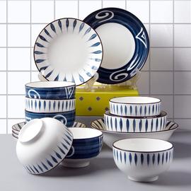 陶瓷碗碟套装 创意INS风网红日式餐具碗盘个性面碗饭碗汤碗筷家用图片