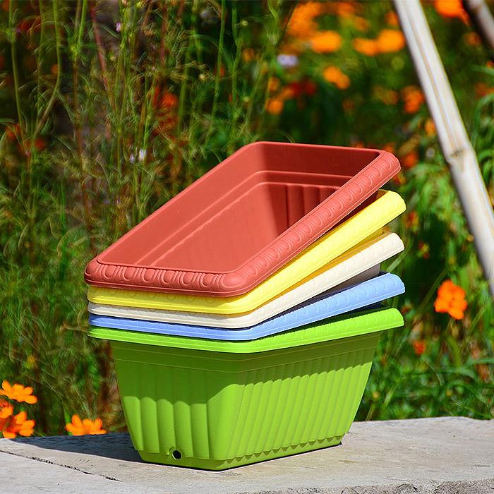 花盆大号蔬菜种菜盆长方形阳台塑料树脂浮雕盆多肉种菜箱带隔水板
