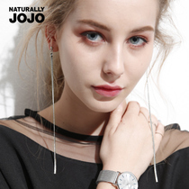 JoJo Simple big temperament Super fairy long ear line female ear nail ear clip fringed earring earrings face thin ear chain
