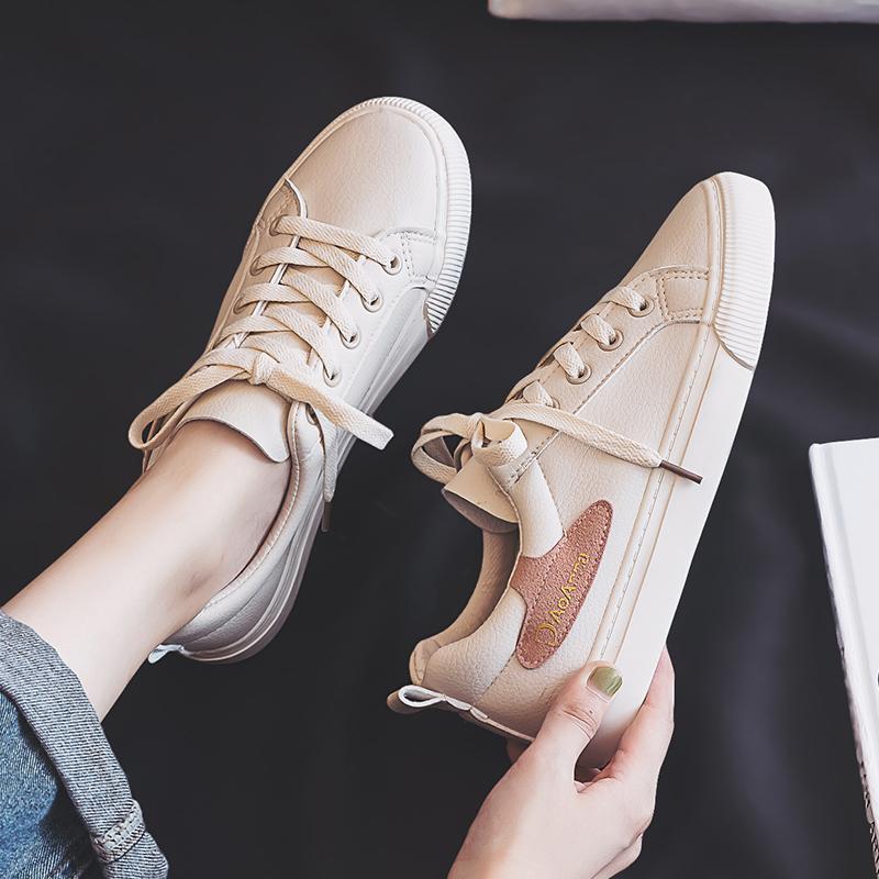 迪澳安娜小白鞋女2019新款百搭平底板鞋潮鞋秋款休闲白鞋女鞋秋鞋