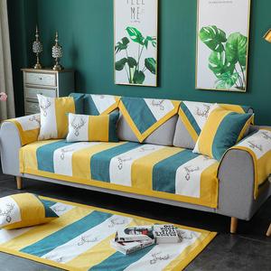 沙发垫四季通用北欧简约现代雪尼尔防滑组合布艺沙发套罩巾坐垫子