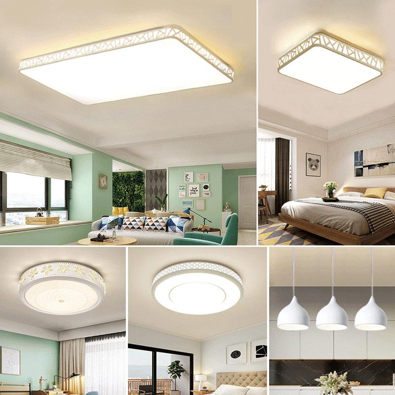 灯具客厅灯简约现代大气家用三室两厅卧室大灯套餐组合led吸顶灯