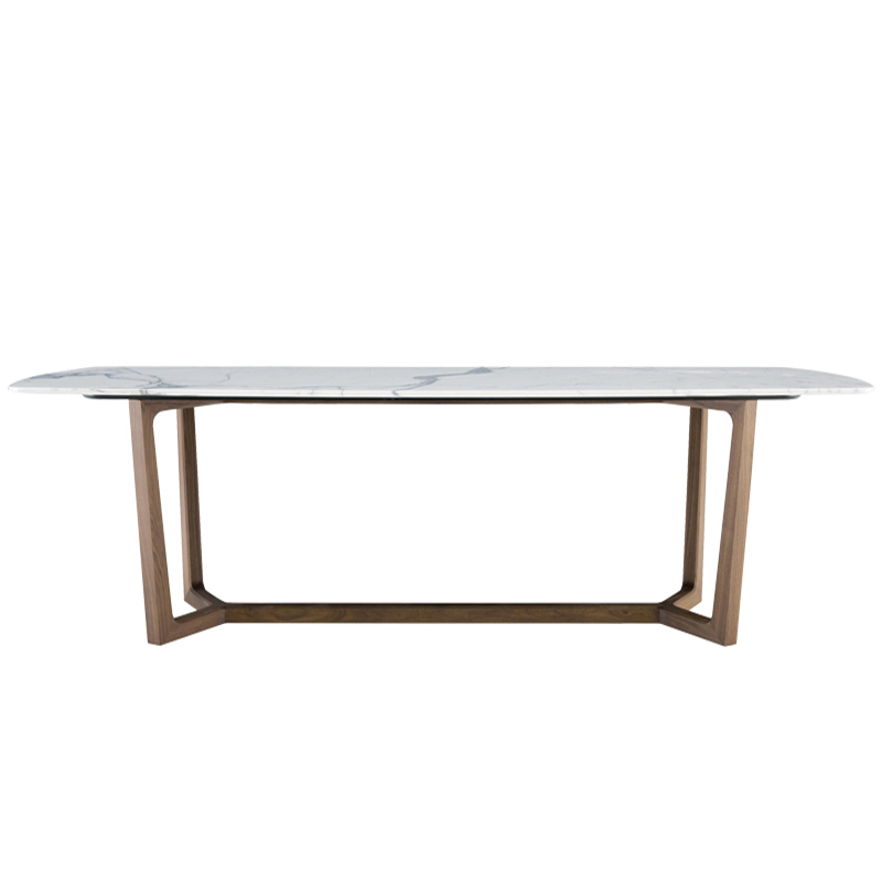 Italian imported rock plate table 1.6m rectangular 6-person marble table top Nordic simple light luxury wind table