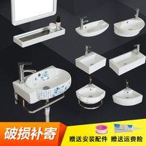 面盆卫生间洗漱台一体陶瓷盆家用转角洗脸盘单盆洗漱池三角形洗脸