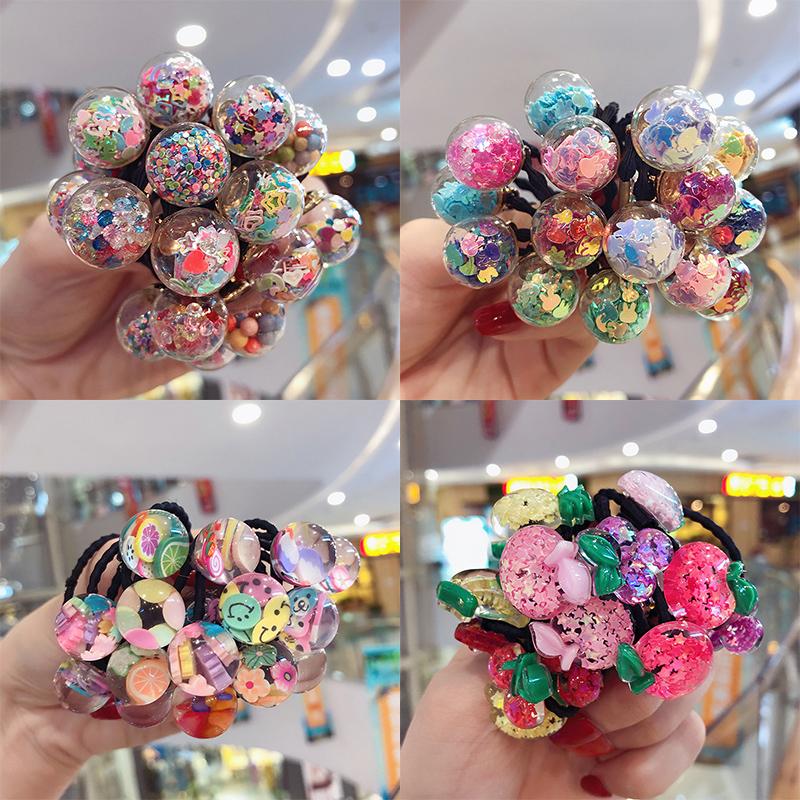 韩版彩色儿童女公主可爱玻璃球发圈满30.00元可用10.2元优惠券