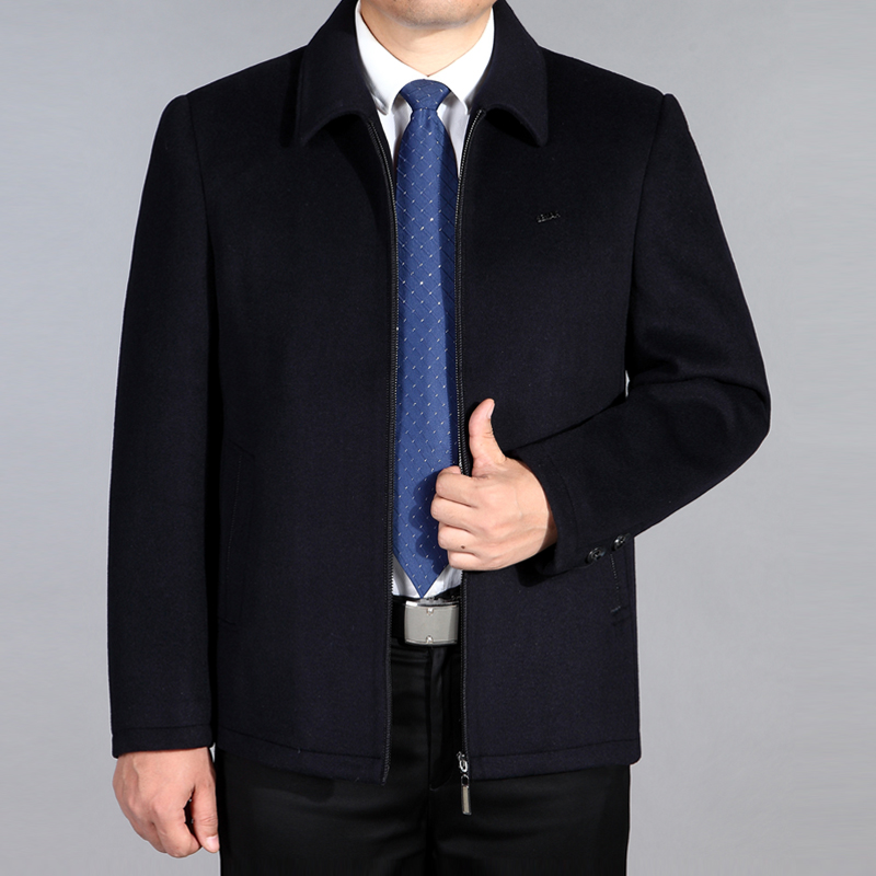 2019 new wool jacket for middle-aged and old men