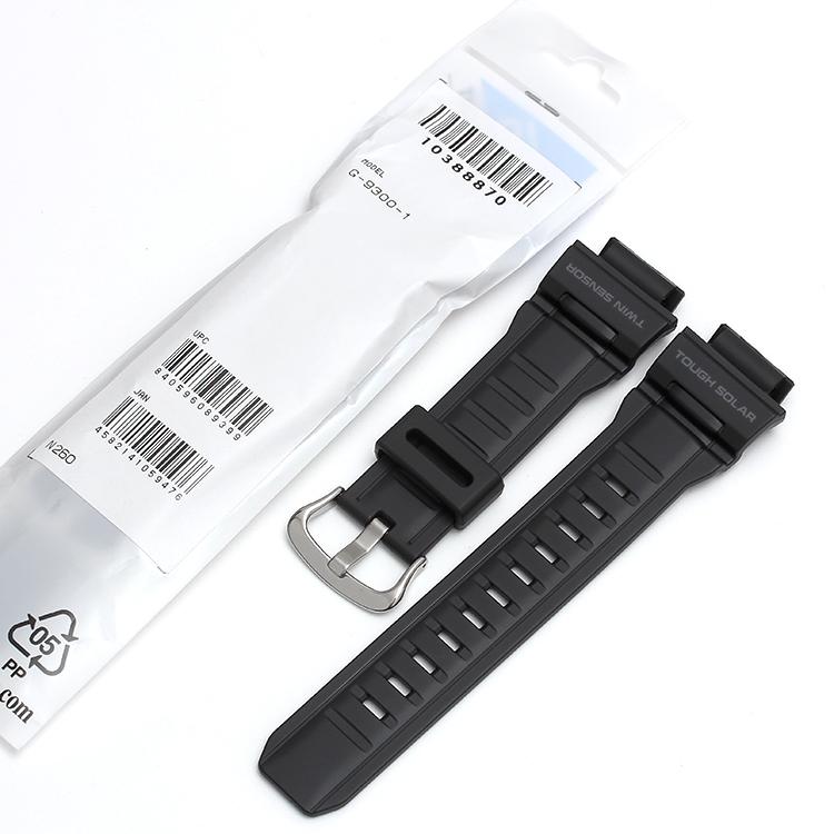 原�b卡西�WG-SHOCK手表配件G-9300/GW-9300黑色�渲�表��