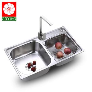 不锈钢SUS304不锈钢水槽水池洗菜盆双槽厨房加厚拉丝洗菜盆洗碗池