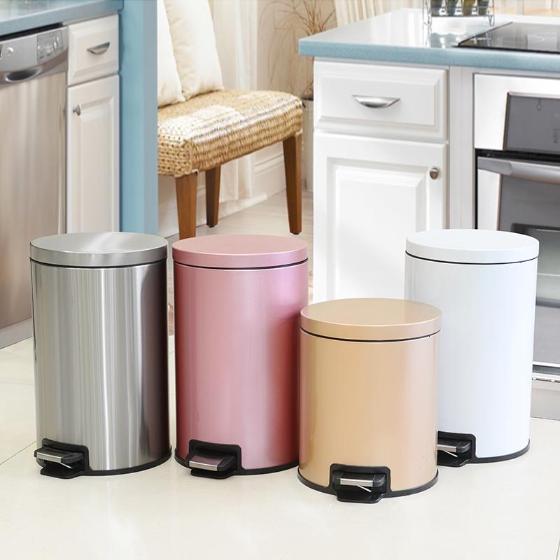 BORFEER/博菲尔脚踩垃圾桶脚踏式大号厨房缓降家用办公室用可定盖