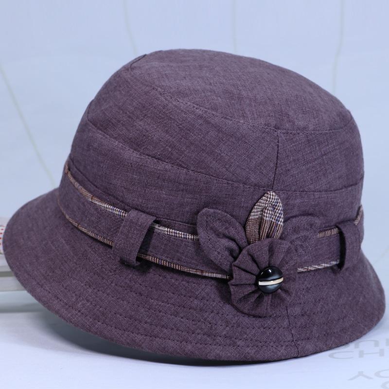 中老年人帽子女奶奶春秋天盆帽薄款妈妈渔夫帽秋季遮阳帽太太布帽