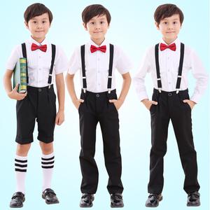 六一儿童礼服套装校服男孩背带裤