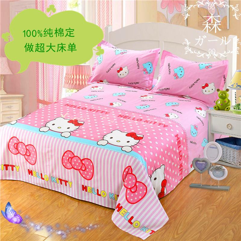 Стандарт хлопок мультики один двойной негабаритный хлопок лист кровать предприятия большой печка один 3 кровать 3.5 кровать 4 кровать