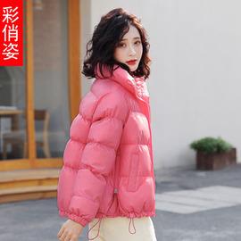 2019新款网红棉服女短款冬季小棉袄韩版宽松甜美面包加厚棉衣外套