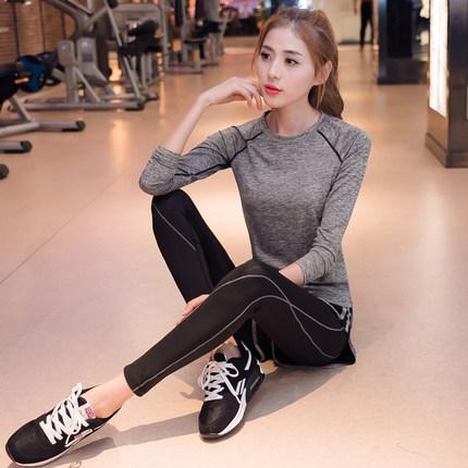 瑜伽服女网红健身服跑步运动健身房瑜伽服套装女2018新款秋冬网红