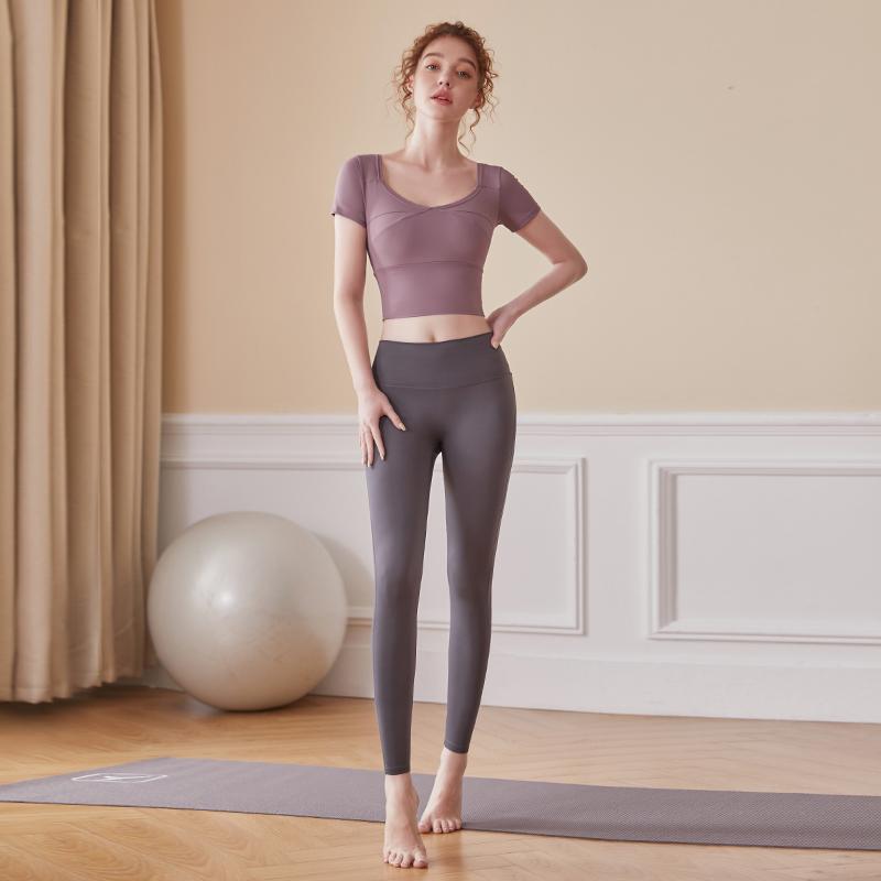 瑜伽服女时尚春秋款晨跑新款网红健身房运动套装专业高端跑步套装