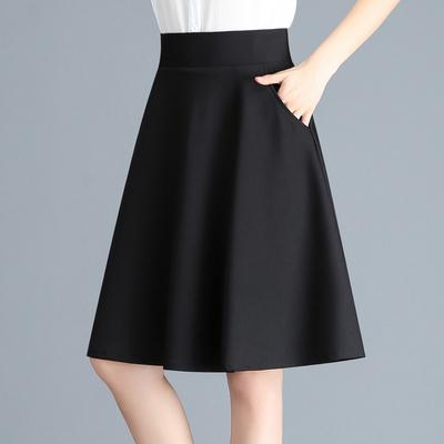 2020新款韩版女装春秋半身裙女中长款高腰百褶裙夏季A字打底裙子