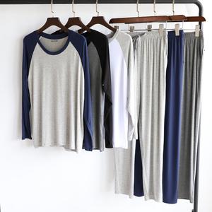 2020年新款睡衣套装男土莫代尔薄款冰丝夏季中大童初中学生青少年
