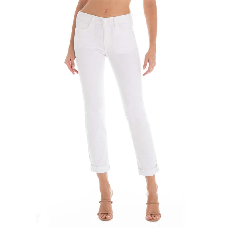 Purchasing American fidelity denim imported womens boyfriend jeans white pants straight pants