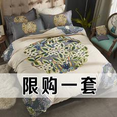 全棉四件套纯棉床单被套北欧风床上用品学生宿舍单人床三件套100%