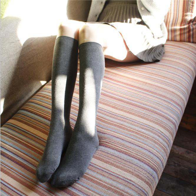 2双装小腿袜子不过膝及膝袜日韩半腿堆堆袜小腿高筒袜 长袜子包邮