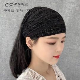 发带女洗脸简约韩国头饰发箍百搭外出遮白发盖碎发发卡宽边头发饰