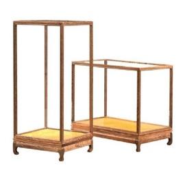 工艺术收藏品文玩古董木雕像摆件红木玻璃展示透明罩收纳防尘盒箱