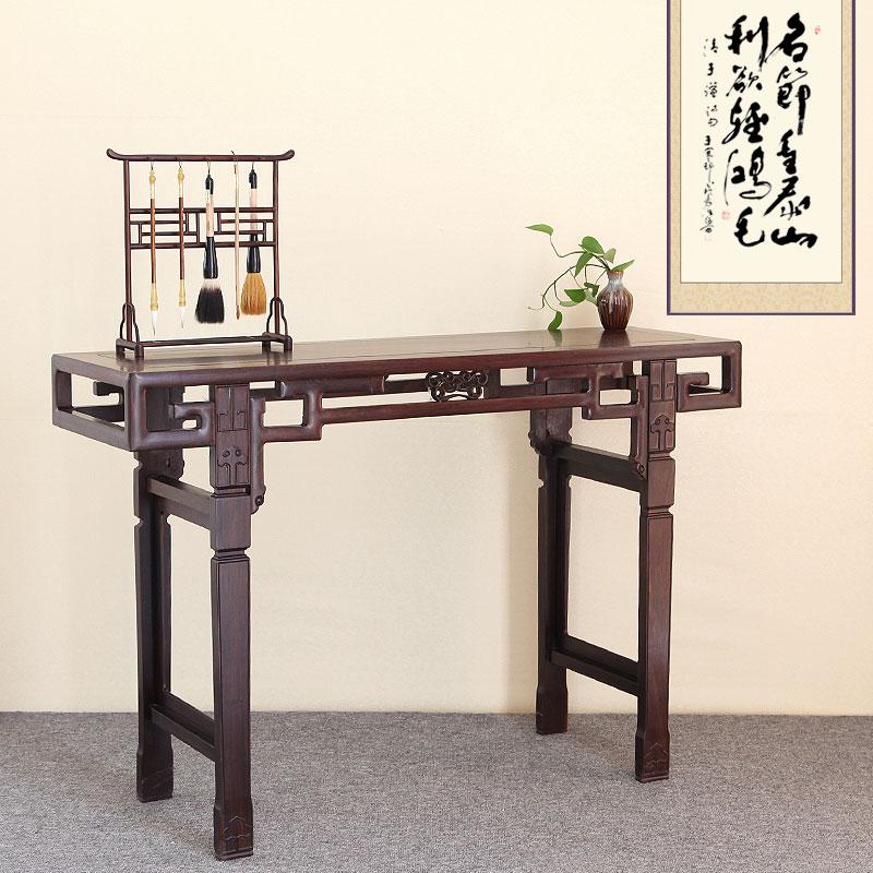Красный Стол для ксилофона черный Столешница из сосны из сандалового дерева копия Древняя скамья из цельного дерева в китайском стиле полосатый Вход на стол