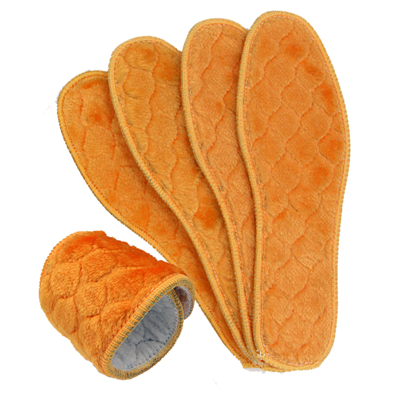 保暖鞋垫冬季加厚加绒仿羊毛鞋垫男吸汗透气除臭毛毡棉鞋垫3-10双