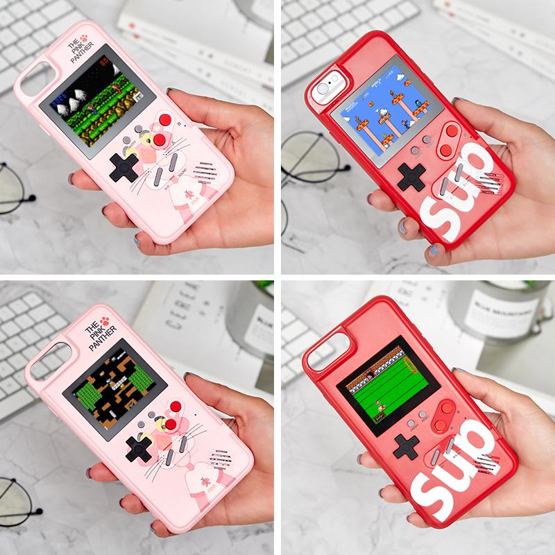 游戏机手机壳iPhonex抖音同款可以玩的苹果x情侣手机壳67plus六七