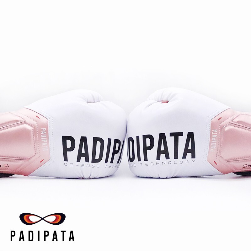 Padipata Boxing Gloves Adult Sanda boxing boxing boxing training shield-x professional boxing Set Pink White