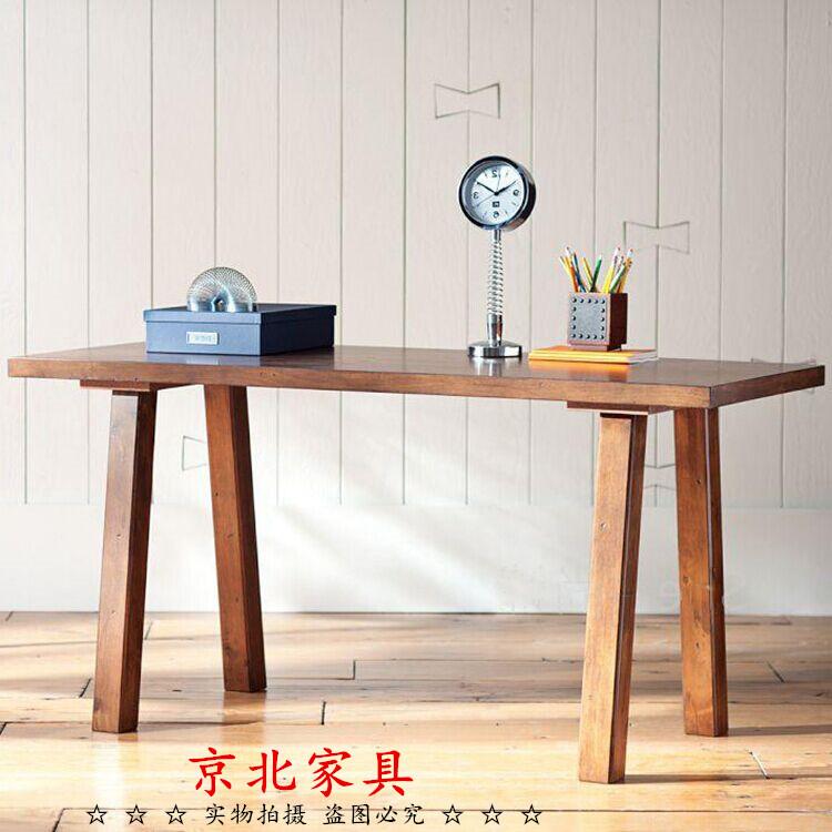 純正な木の机は簡単で現代画のテーブルの復古する仕事台の書写の机のノートパソコンの机の事務机を予約します。